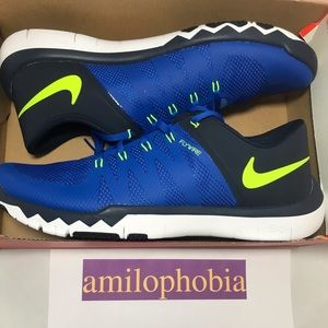 online store 9367f eb1a7 New Men s Nike Free Trainer 5.0 V6 Size 14 Blue
